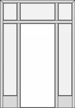 Sapeli posuvné dveře do pouzdra
